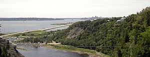 Montmorency Falls - Image: QC View montmorency
