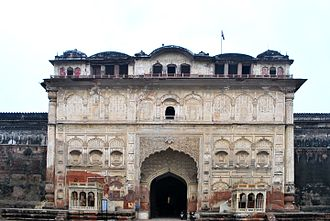 Patiala - A gate of the Qila Mubarak in Patiala, built in the 18th century