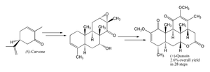 Carvone - Asymmetric total synthesis of quassin from carvone