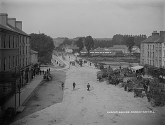 Fermoy - Pearse Square (then Queens Square) in Fermoy, c.1900
