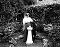 Qui Si Sana Sanatorium and Biological Institution, Marie Dechmann and youngest son standing by water fountain, 1913 (WASTATE 1570).jpeg