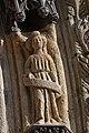 Quimper - Cathédrale Saint-Corentin - Statue des Voussures du portail - PA00090326 - 0020.jpg