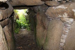 Gørlev - From the Stone Age passage grave of Rævehøj near Gørlev.