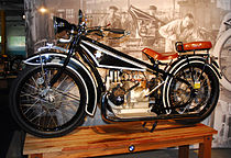 A 1923 BMW R32, with a shift-drive, boxer twin engine