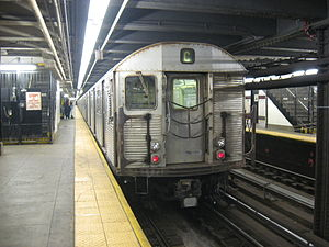 168th Street (New York City Subway) - An R32 C train entering service at 168th Street bound for Brooklyn