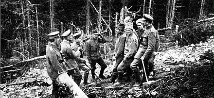 Meeting before the Russian wire entanglements RJB23 - Friede 1917 2.jpg
