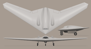 RQ-170 Sentinel impression 3-view