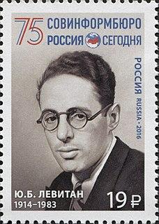 Yuri Levitan Soviet radio announcer