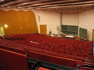 "RWTH Aachen University - ""Red lecture hall"" at the central campus"