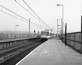 Radcliffe tram stop - Image: Radcliffe station geograph.org.uk 714986