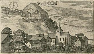 Radeče - Radeče (Ratschach), second half of the 17th century, copper engraving by Johann Weikhard von Valvasor.