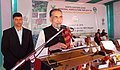 Radha Mohan Singh addressing the gathering, at the inauguration of the North-East Regional Agriculture Fair 2018, organised by the ICAR Research Complex for North Eastern Hill (NEH) Region, at Umiam, Meghalaya.jpg