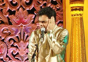 Rahul Deshpande - Rahul Deshpande singing in Vasantotsav 2010
