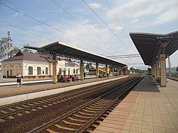 Railway station Rudziensk, Belarus.jpg