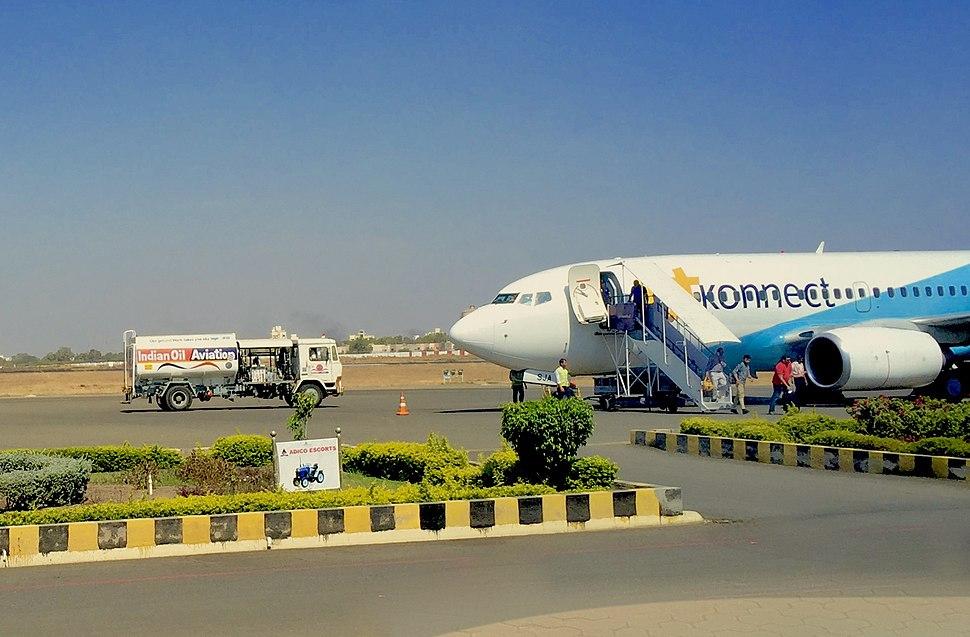 Rajkot airport apron