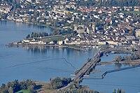 Rapperswil - Seedamm - Holzbrücke - Etzel Kulm 2010-10-21 16-39-22.JPG