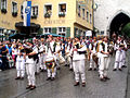 Ravensburg Rutenfest 2005 Festzug Dudelsackgruppe Mehlsäcke.jpg