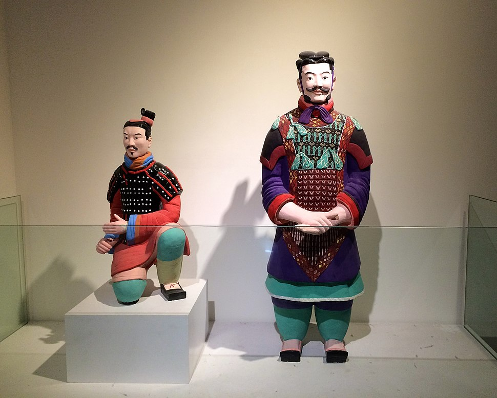 Recreated colored terracotta warriors
