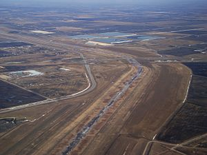 Red River Floodway from the air.JPG