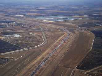 Manitoba - Red River Floodway from the air