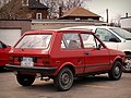 Red Yugo GV in Junction Triangle, Toronto, Canada.jpg