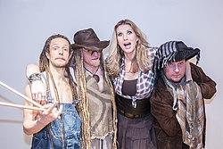 Rednex (2015) Ace Ratclaw, Joe Cagg, Whippy und Dagger