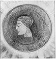 Redon - Tête de femme de profil, au centre d'un disque sombre, PPD2031.jpg