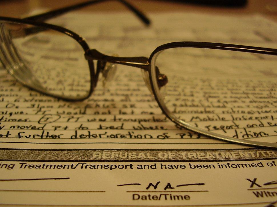 Refusal of treatment form