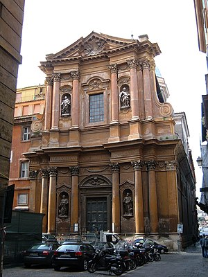Santissima Trinità dei Pellegrini, Rome - West facade of the church