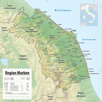 landkarte italien marken Marken – Wikipedia