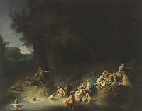 Rembrandt, Harmenszoon van Rijn - Diana mit Aktäon und Kallisto - c.1634-1635.jpg