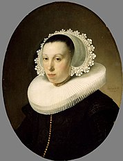 Portrait of a Woman with Millstone Collar