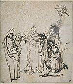 Rembrandt Christ and the Woman Taken in Adultery (Louvre).jpg