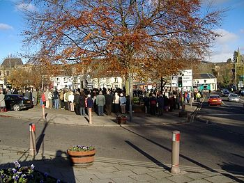 English: Remembrance Sunday A very well attend...