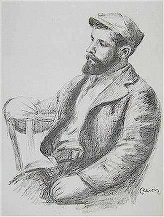Louis Valtat - Portrait of Louis Valtat circa 1904 (age 35) by fellow painter Auguste Renoir