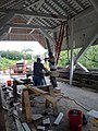 Repairing Bradley Covered Bridge Center Street Lyndonville VT August 2019 01.jpg