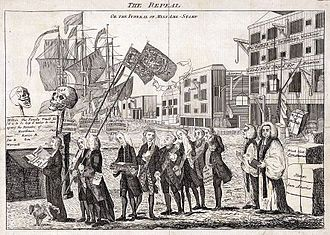 Benedict Arnold - A 1766 political cartoon on the repeal of the Stamp Act