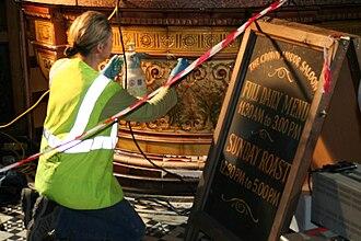 Crown Liquor Saloon - Restoration of the Crown in progress, August 2007