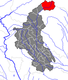 Location within Weiz district