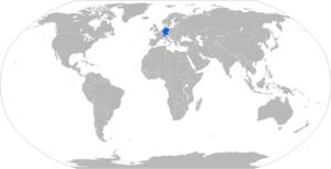Rheinmetall MAN Military Vehicles YAK - Map with Rheinmetall YAK operators in blue
