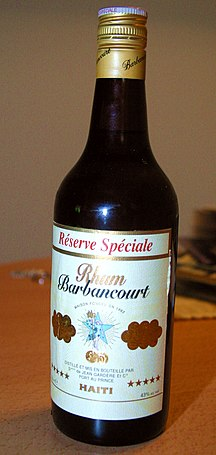 Haiti-Cuisine-Rhum Barbancourt Bottle