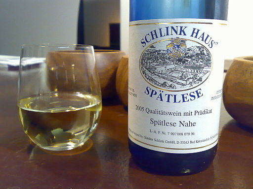 Riesling Spatlese from Nahe