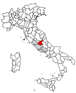 Location of Province of Rieti