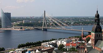 River - Daugava river, Riga in Latvia – In the urban landscape