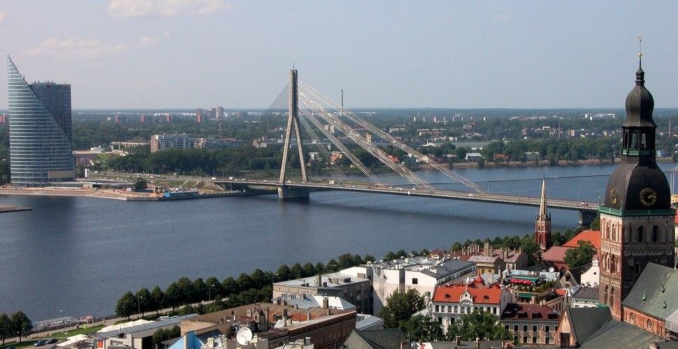 Riga Dom Bruecke Daugava
