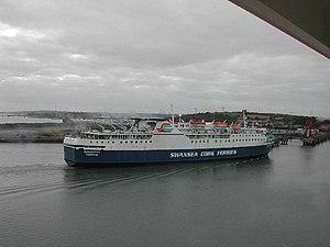 Ringaskiddy - A former Swansea–Ringaskiddy ferry in Ringaskiddy Harbour