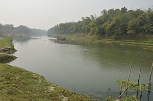 Churni River - River Churni at Halalpur Krishnapur, Nadia.