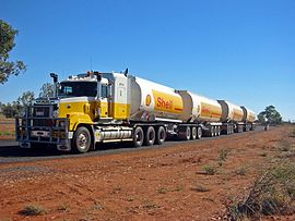 Australische road train