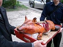 Medieval Pig Wedding Cake