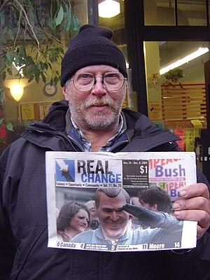 Real Change - Real Change vendor (2008)